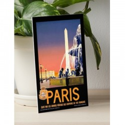 Vintage Paris Travel Art...