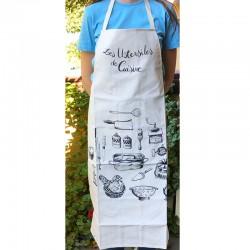 """Apron """"Les Ustensiles de Cuisine"""" - Torchons et Bouchons"""