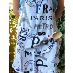 Apron Paris - White