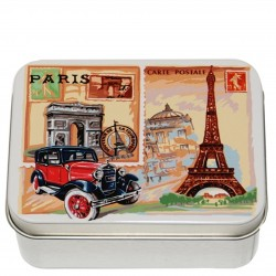 Rose Soap in Paris Metal Tin