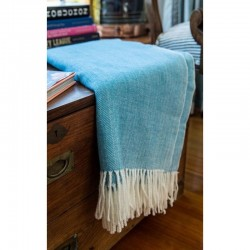 Cotton Blend Herringbone Throw