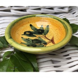 Provence Mini Dish - Olives Dark Yellow & Green