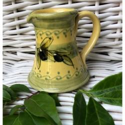 Provence Ceramic Creamer - Olives Light Yellow & Green