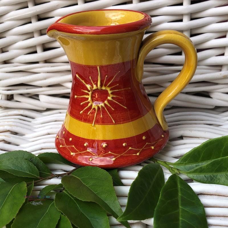 Provence Ceramic Creamer - Sun Yellow & Red
