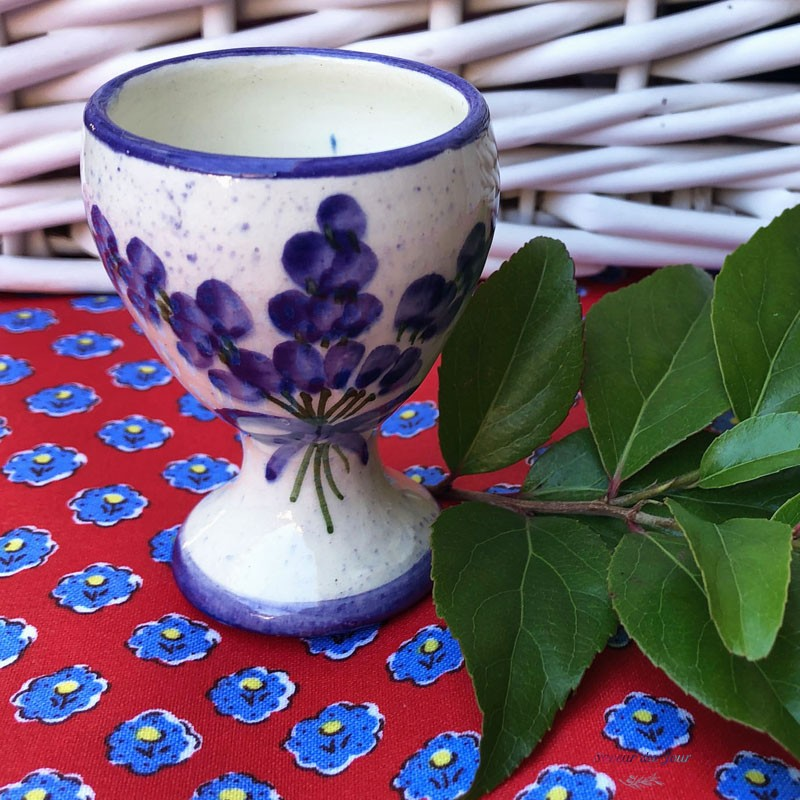 Provence Ceramic Egg Cup - Lavender White