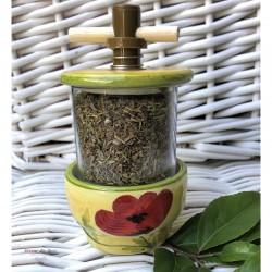 Provence Ceramic Grinder - Red Poppy