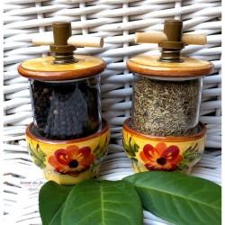 Provence Ceramic Grinder - Fragrance Flower