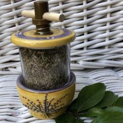 Provence Ceramic Grinder - Lavender Bouquet Yellow