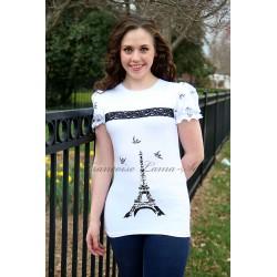 Tee-Shirt - Bonjour Paris - White