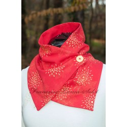 Neck Warmer Button Scarf -...