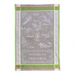 French Dish Towel - Herbes...
