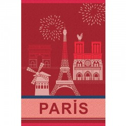 French Dish Towel - Paris Monuments - Coucke