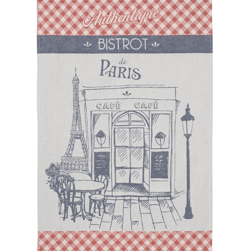 French Dish Towel - Paris Bistro Authentique - Coucke
