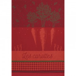 French Dish Towel - Carottes - Coucke