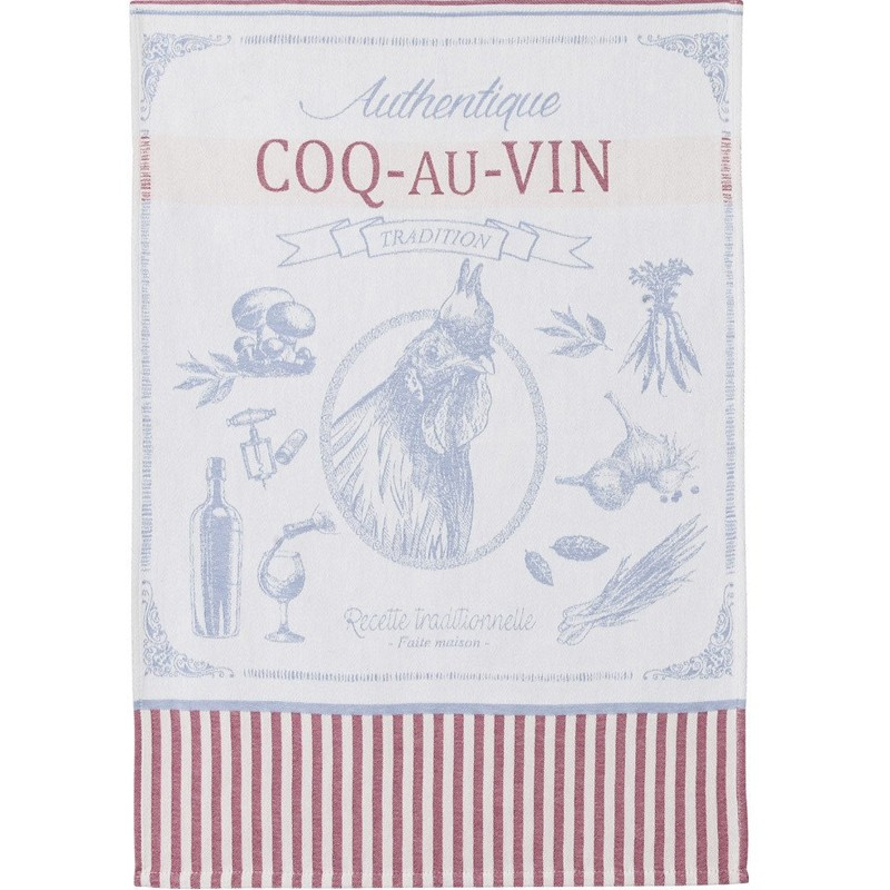 French Dish Towel - Coq au Vin - Coucke