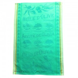 French Dish Towel - Huile d'Olive - Green