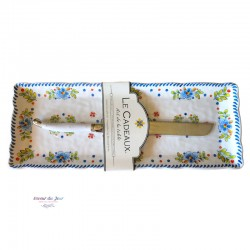 Melamine Madrid Tray with Knife - Le Cadeaux