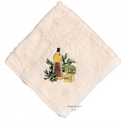 Square Terry Hand Towel - Olive Oil & Marseille Soap - Cream