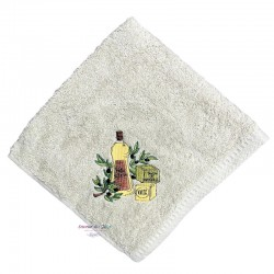 Square Terry Hand Towel - Olive Oil & Marseille Soap - Green
