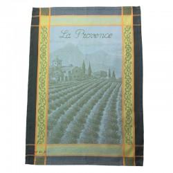 French Dish Towel - La Provence - Green/Yellow
