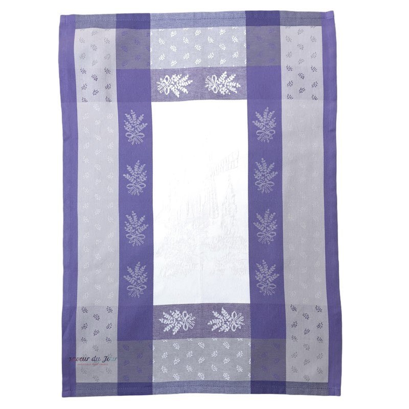 French Dish Towel - Moulin - Lavender