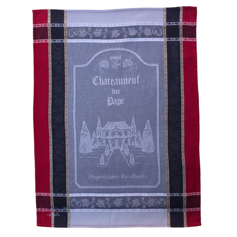 French Dish Towel - Chateauneuf du Pape - Tissus Toselli