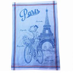 French Dish Towel - Paris Paulette - Blue