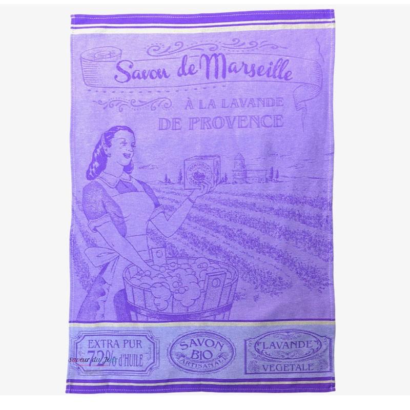 French Dish Towel - Savon de Marseille - Lavender