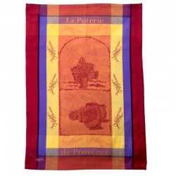 French Dish Towel - Poterie - Orange