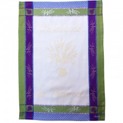 French Dish Towel - La Lavande de Provence - Cream