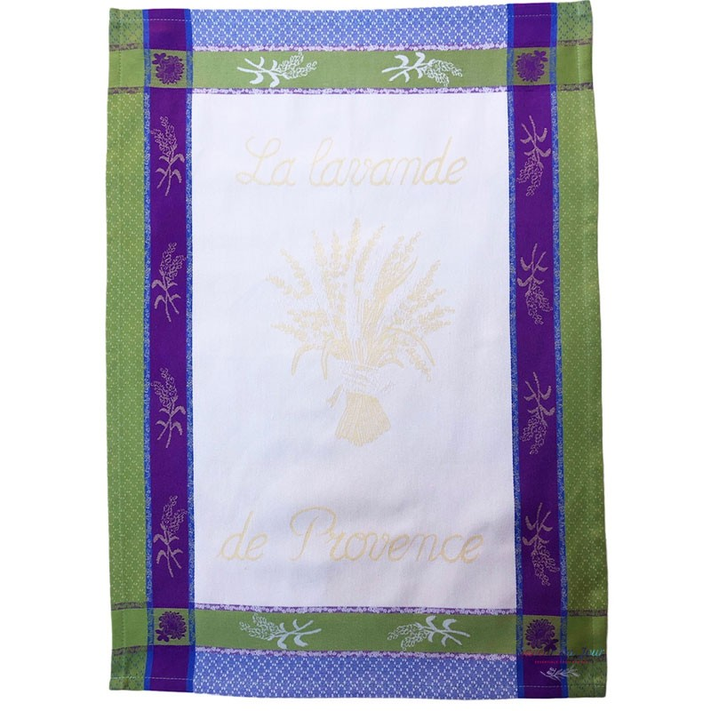 French Dish Towel - La Lavande de Provence - Cream