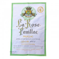 French Image Dish Towel - Pauillac - Wine Collection