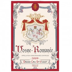 French Image Dish Towel - Vosne Romanee - Wine Collection Torchons et Bouchons