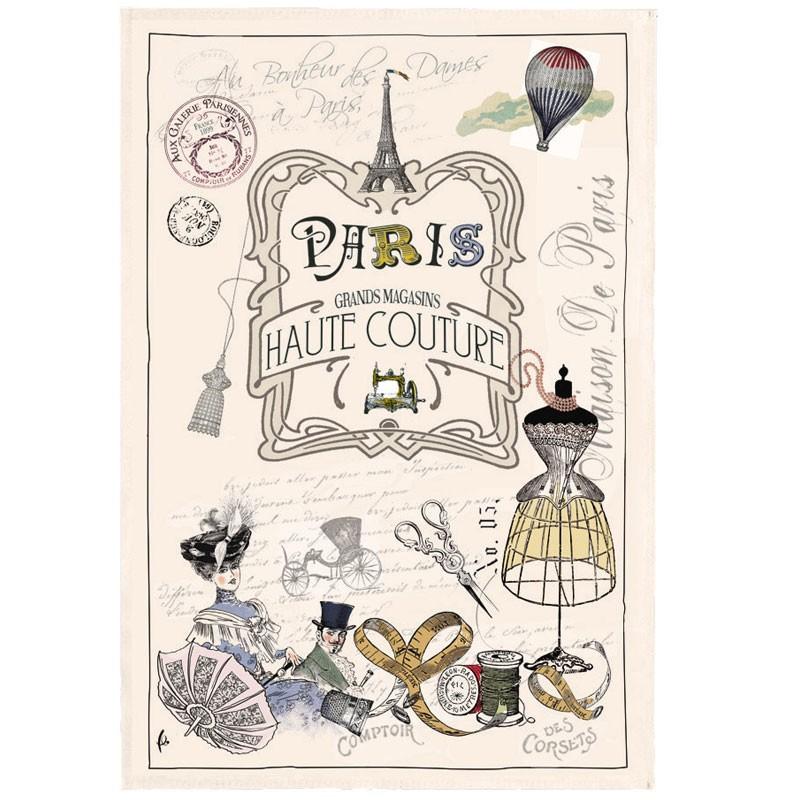 French Image Dish Towel - Paris Haute Couture - Torchons & Bouchons