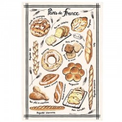 French Image Dish Towel - Pains de France - Torchons & Bouchons