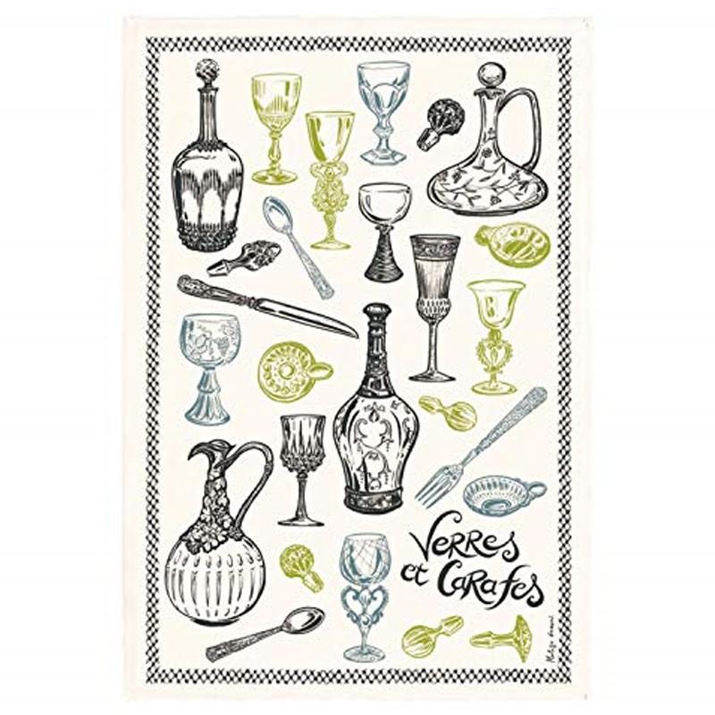 French Image Dish Towel - Verres et Carafes - Torchons & Bouchons
