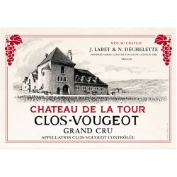 French Image Dish Towel - Clos de Vougeot - Wine Collection Torchons et Bouchons