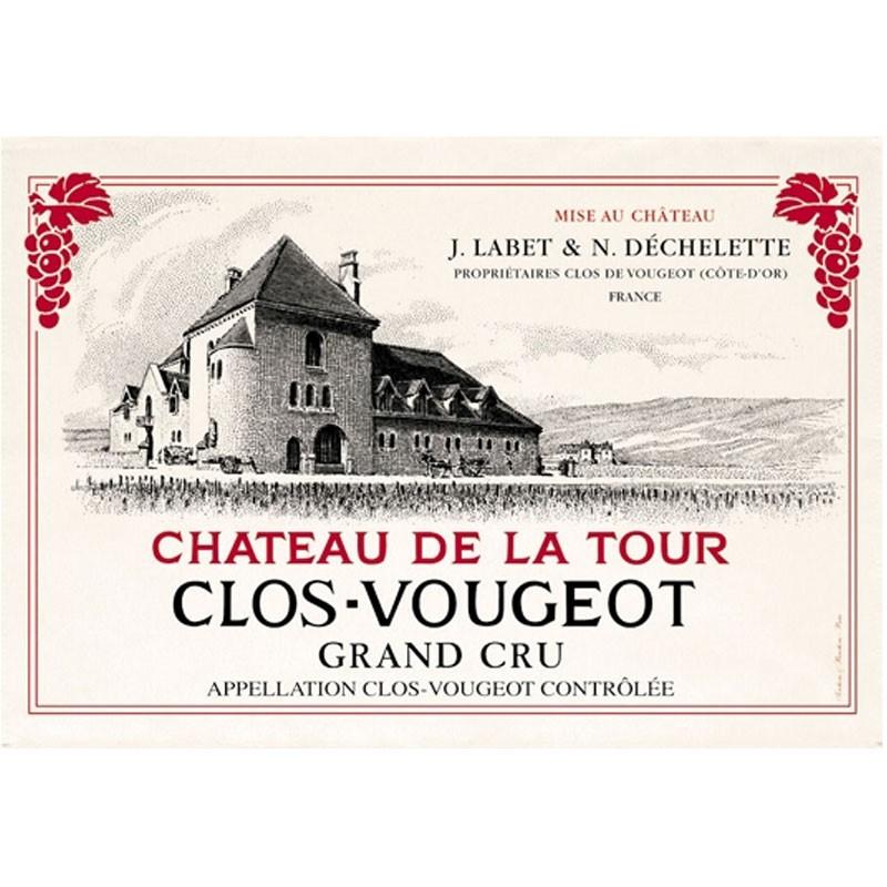 French Image Dish Towel - Clos de Vougeot - Wine Collection Torchons et Bouchons