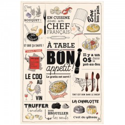 French Image Dish Towel - Cuisine Francaise - Torchons & Bouchons