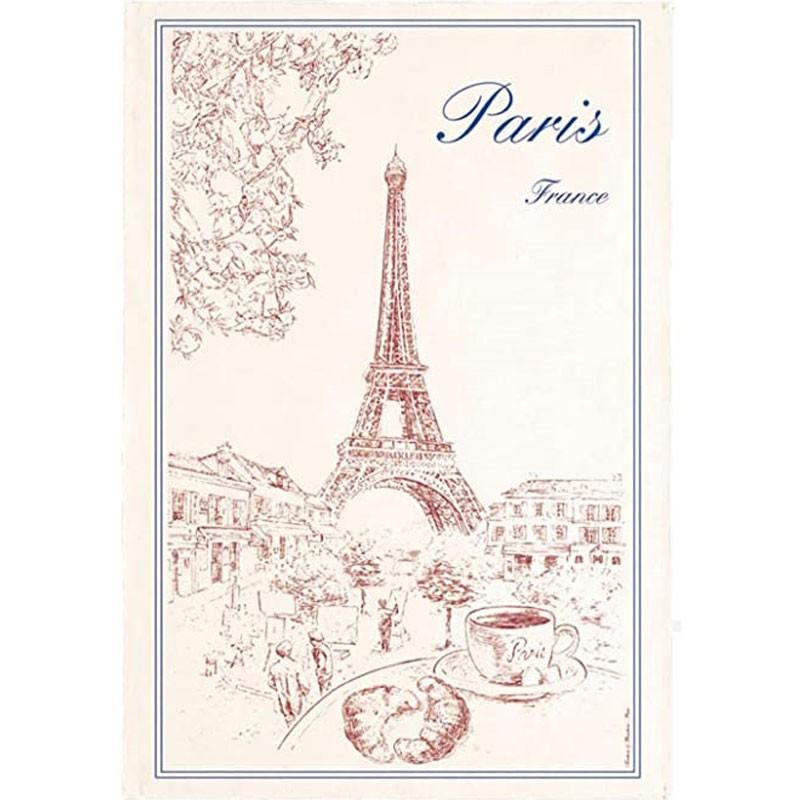 French Image Dish Towel - Paris Tour Eiffel - Torchons et Bouchons