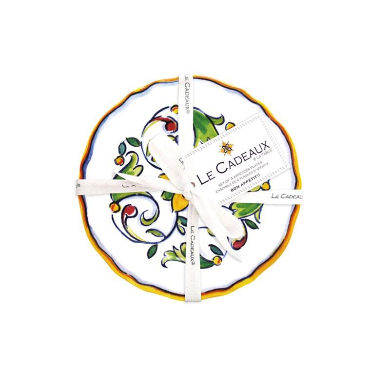 Melamine Capri Appetizer Set - Le Cadeaux