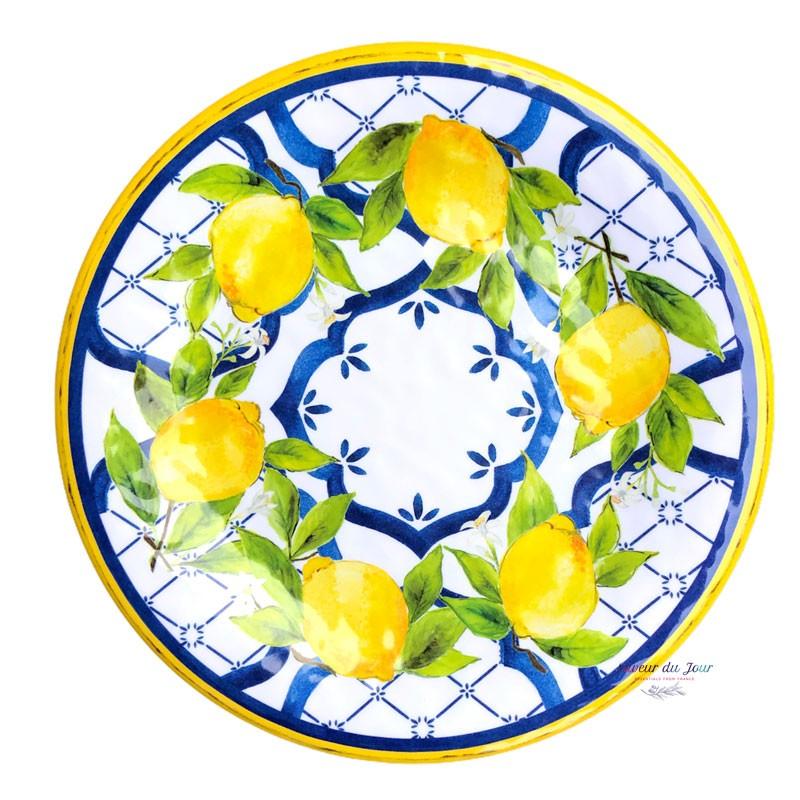 Melamine Palermo Salad Plate - Le Cadeaux
