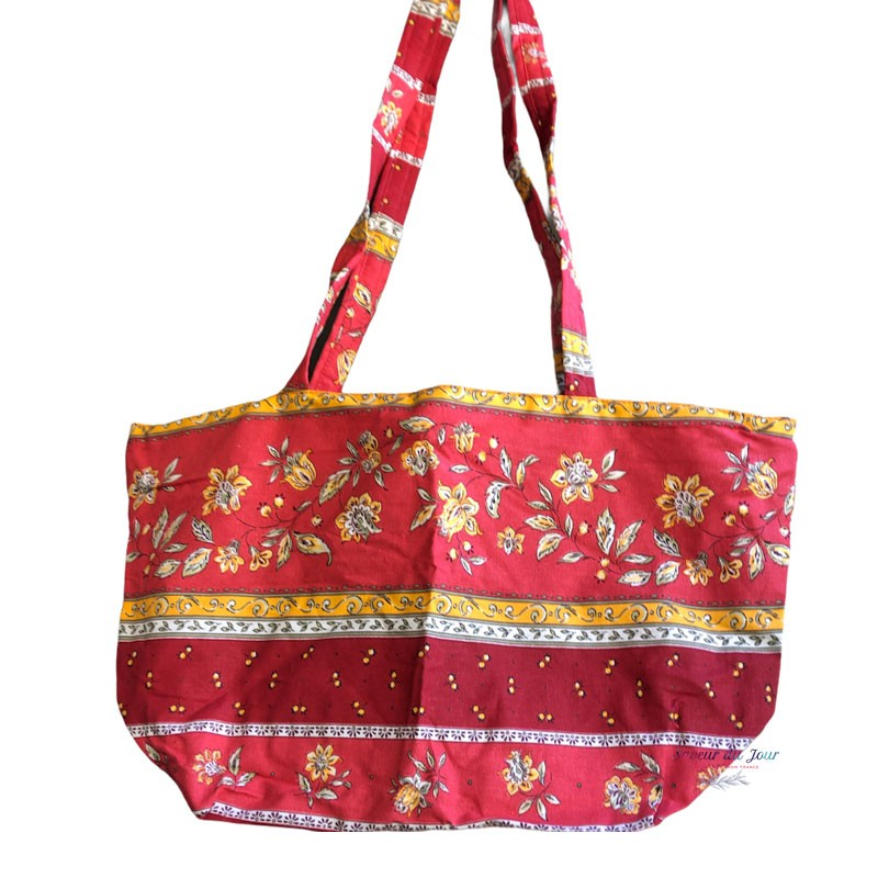 Provence Zippered Tote Bag - Yellow Flowers