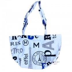 Paris Zippered Tote Bag -...