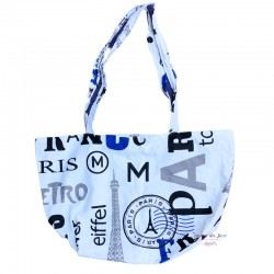 Paris Zippered Tote Bag - Tour Eiffel