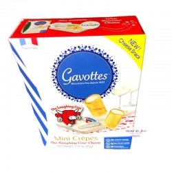 Gavottes Mini Crepes Dentelle with Laughing Cow Cheese - Loc Maria