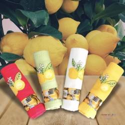 Provence Embroidered Lemon Waffle Weave Towel - Coton Blanc