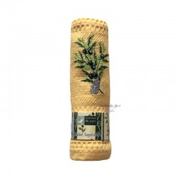 Provence Embroidered Olives Cicada Waffle Weave Towel - Coton Blanc