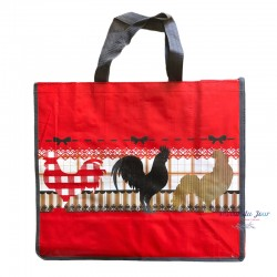 French Tote Bag - Rooster Red