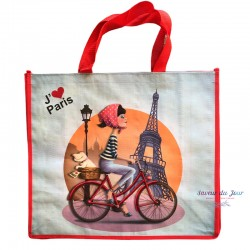 French Tote Bag - Red...